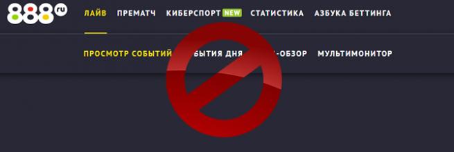Букмекер 888.ru из-за коронавируса приостановил деятельность