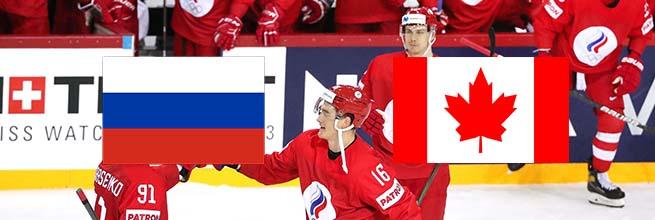 Хоккей, ЧМ 2021, 1\4 финала: Прогноз на матч Россия – Канада